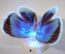 Fashion Special 7 Color Changing Colorful Fiber Optic LED Butterfly Party Light Special Gift Part Decoration #3115(China (Mainland))