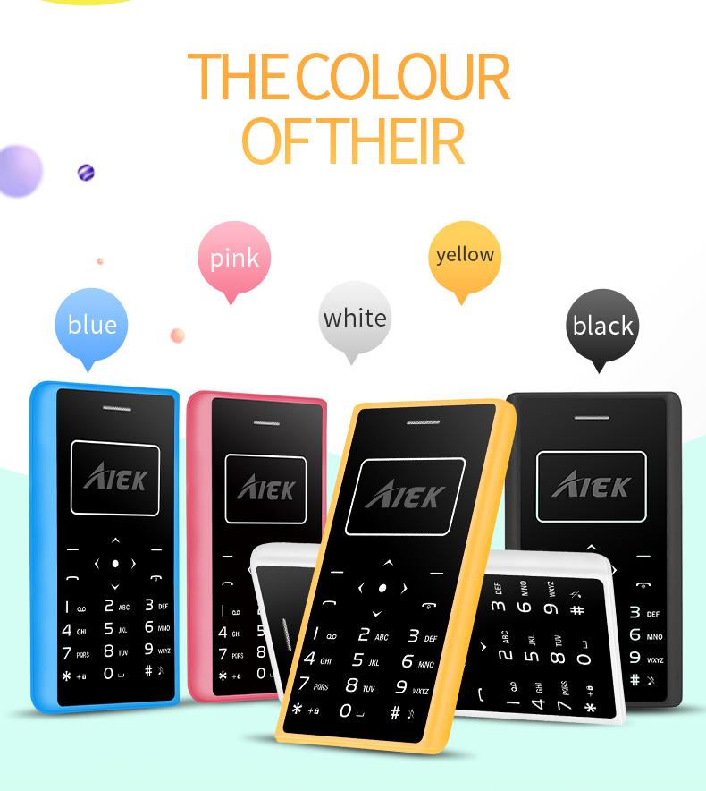 image for 2017 Original AIEK X7 Phone 4.8mm MP3 Bluetooth Led Light Low Radiatio