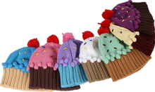 same style NEFF 2016 New Winter kids hat Lovely cupcakes modelling children embroidery cake ice cream hat knitted hat