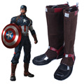 2016 New 3D Film Marvel s Captain America Civil War Cosplay Captain America 3 Boots Anime