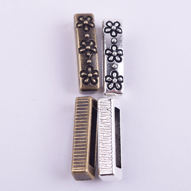 50Pcs/Lot Silver or Bronze Rectangle Flowers Shaped Hand Made Spacers Beads DIY Jewelry Making Material Findings 2016(China (Mainland))