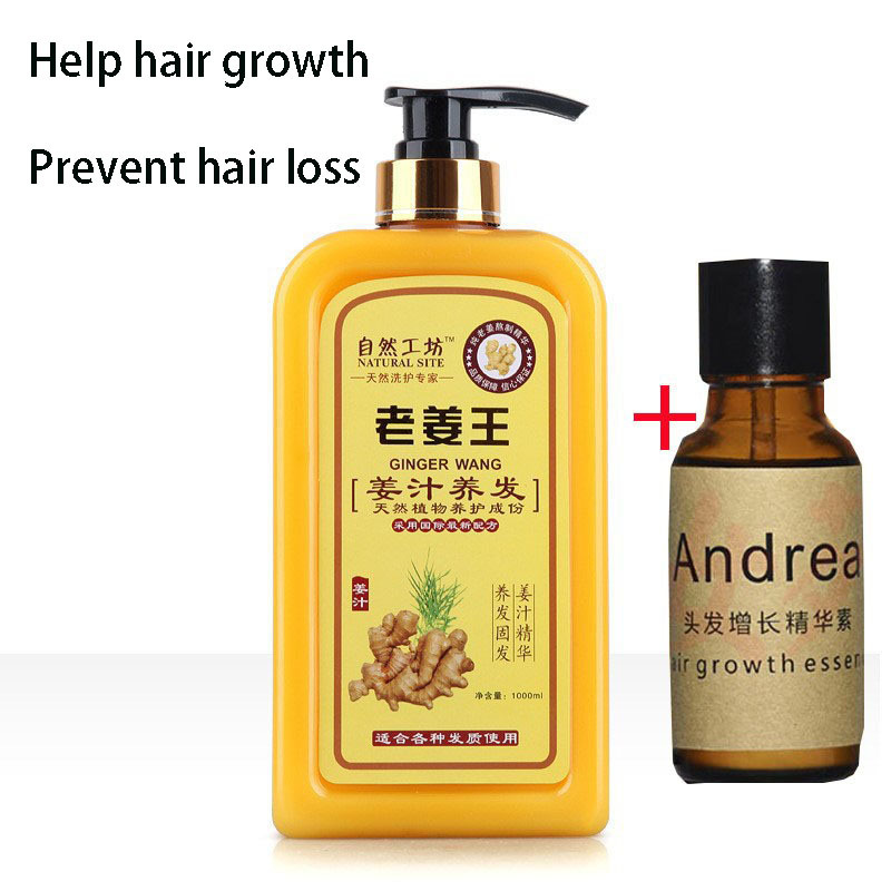 Ginger juice anti-hair loss hair shampoo against dandruff off oil control issuance of dense hair growth solution free shipping(China (Mainland))