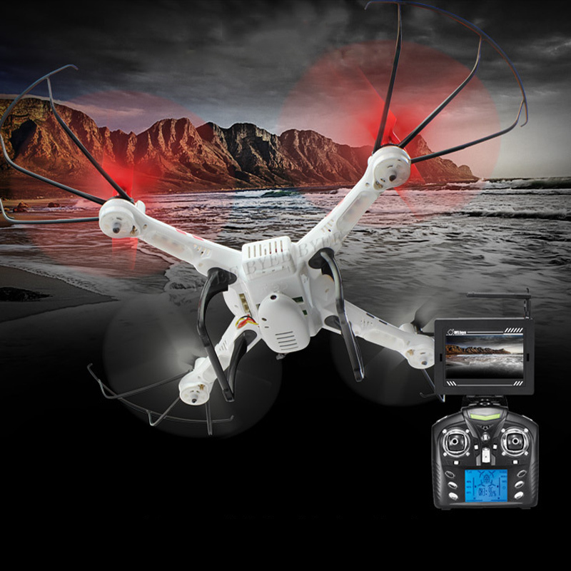 High Quality White V686G 4CH 5.8G FPV Real Time Transmission 2.4G RC Quadcopter+2.0MP Camera Headless Mode Auto Child Best Gift(China (Mainland))