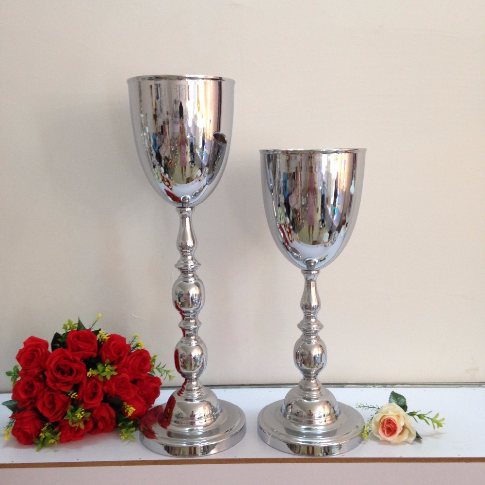 Online buy wholesale silver vases for wedding centerpieces