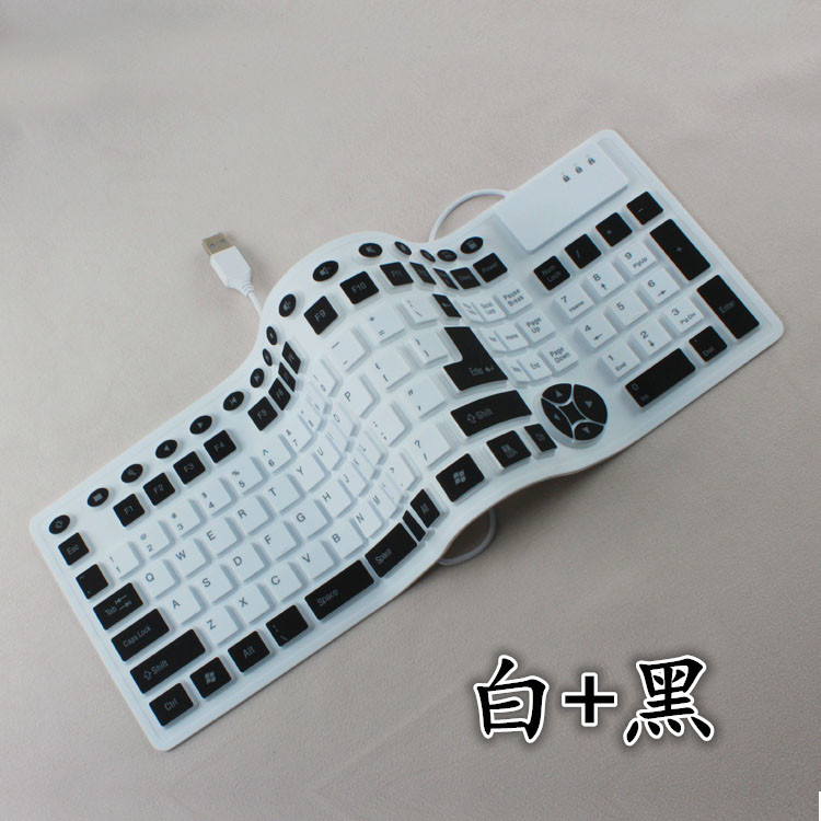Colorful 128 keys wired Silica gel mini USB Rubber portable waterpfoof Foldable folding computer keyboard For Laptop PC notebook(China (Mainland))