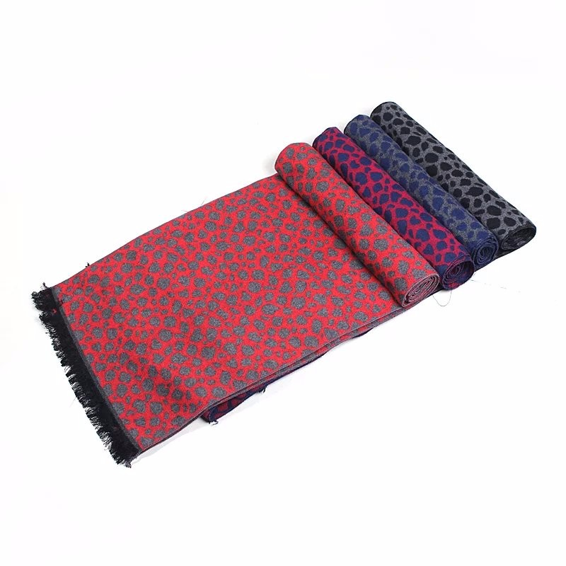 New fashion winter mens scarf Leopard cotton bufanda hombre warm scarf winter sjaal scarves and stoles cachecol