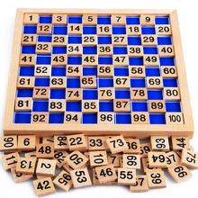 Baby Toys Montessori Education Wooden Toys 1-100 Digit Cognitive Math Toy Teaching Logarithm Version Kid Early Learning Toy Gift(China (Mainland))