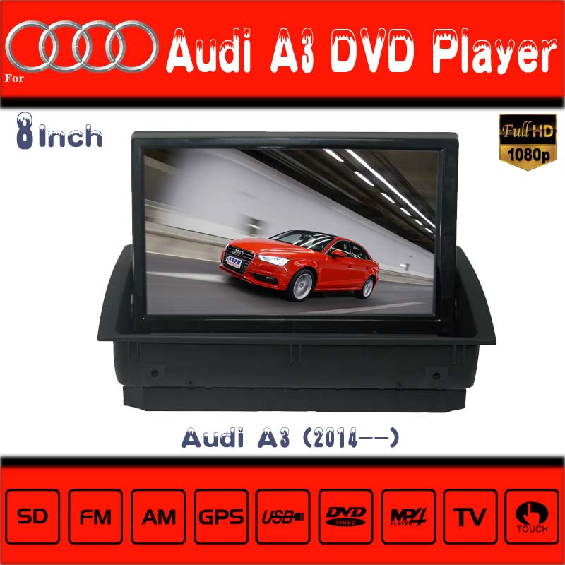 gps navigation with reversing camera Audi A3 radio with Bluetooth TV IPOD Mp4 MP5 video navigation radio shack gps car tracker(China (Mainland))