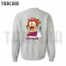 TARCHIA hoodies sweatshirt personalized double sided print Tony Tony Chopper man coat casual parental survetement One Piece