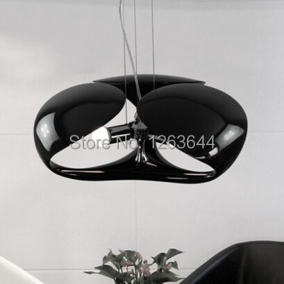 Modern Black LED Chandelier Light Creative Living Room Bedroom Restaurant E27 Resin Chandelier AC90V-260V(China (Mainland))
