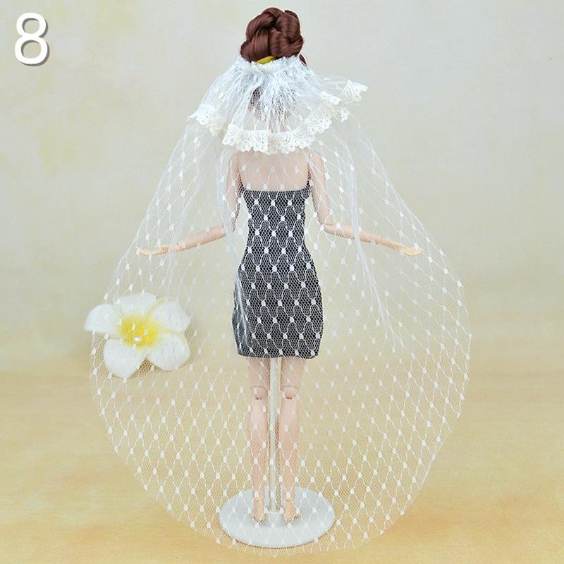 Excessive High quality Handmade Lengthy Veil Marriage ceremony Veil For Barbie Dolls Marriage ceremony Costume Vestido Veil For 1/6 Dolls Garments