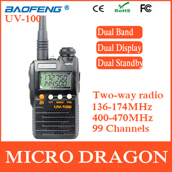 New BaoFeng UV-100 Professional Dual Band Transceiver FM Ham Two Way Radio Walkie Talkie Transmitter cb Radio Station