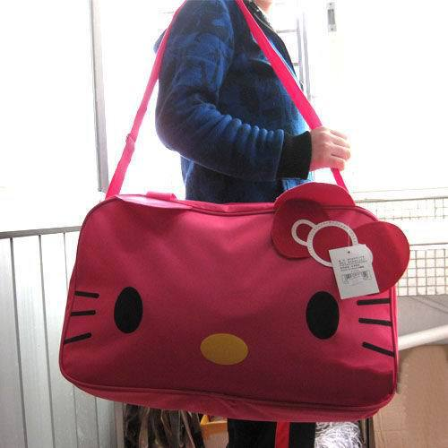 Free Shipping Mail bag, travel bag, the latest head large tote bag bag rose red. Hello Kitty(China (Mainland))