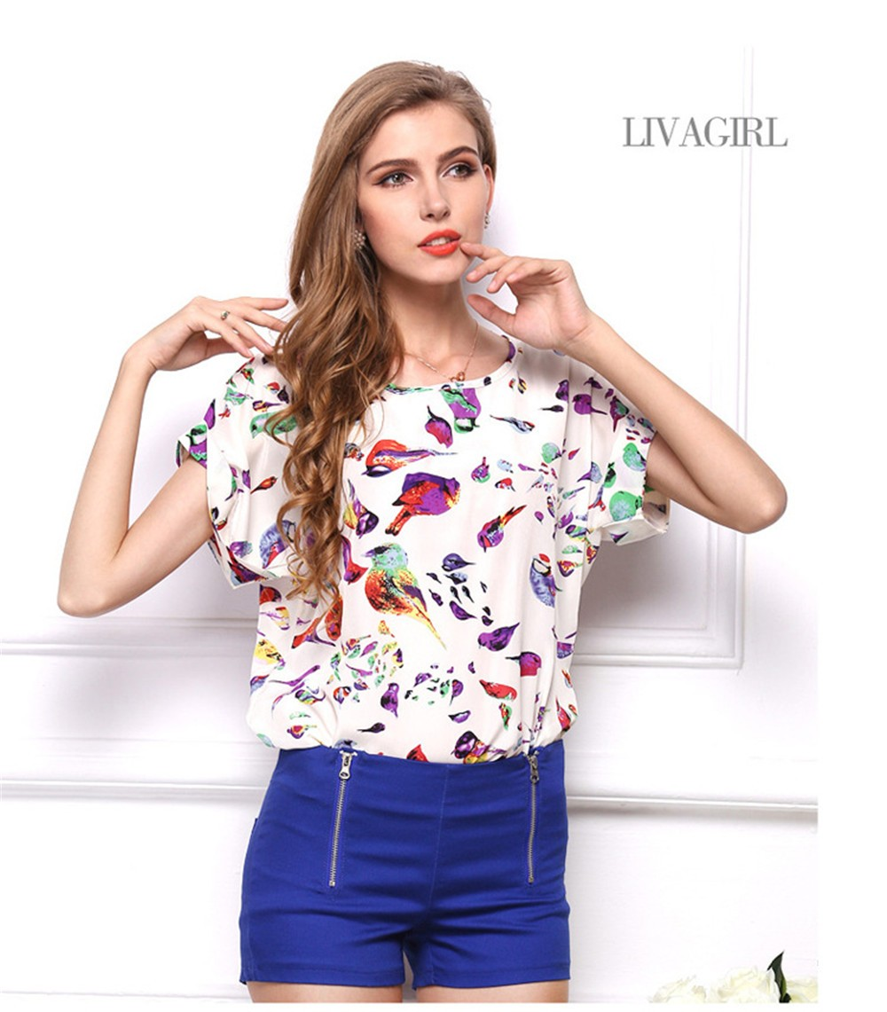 2015 O-neck Woman's Breathable Tops Loose Women T-shirt Pullover Plus Size XXL Casual Women T-shirt Cheap Chinese Clothes Top (5)