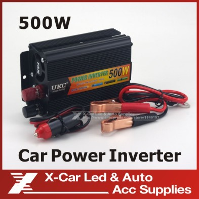 Vehicle 500W Inverter Car Power Inverter Converter DC 12V to AC 220V USB Adapter Portable Voltage Transformer Car Chargers(China (Mainland))