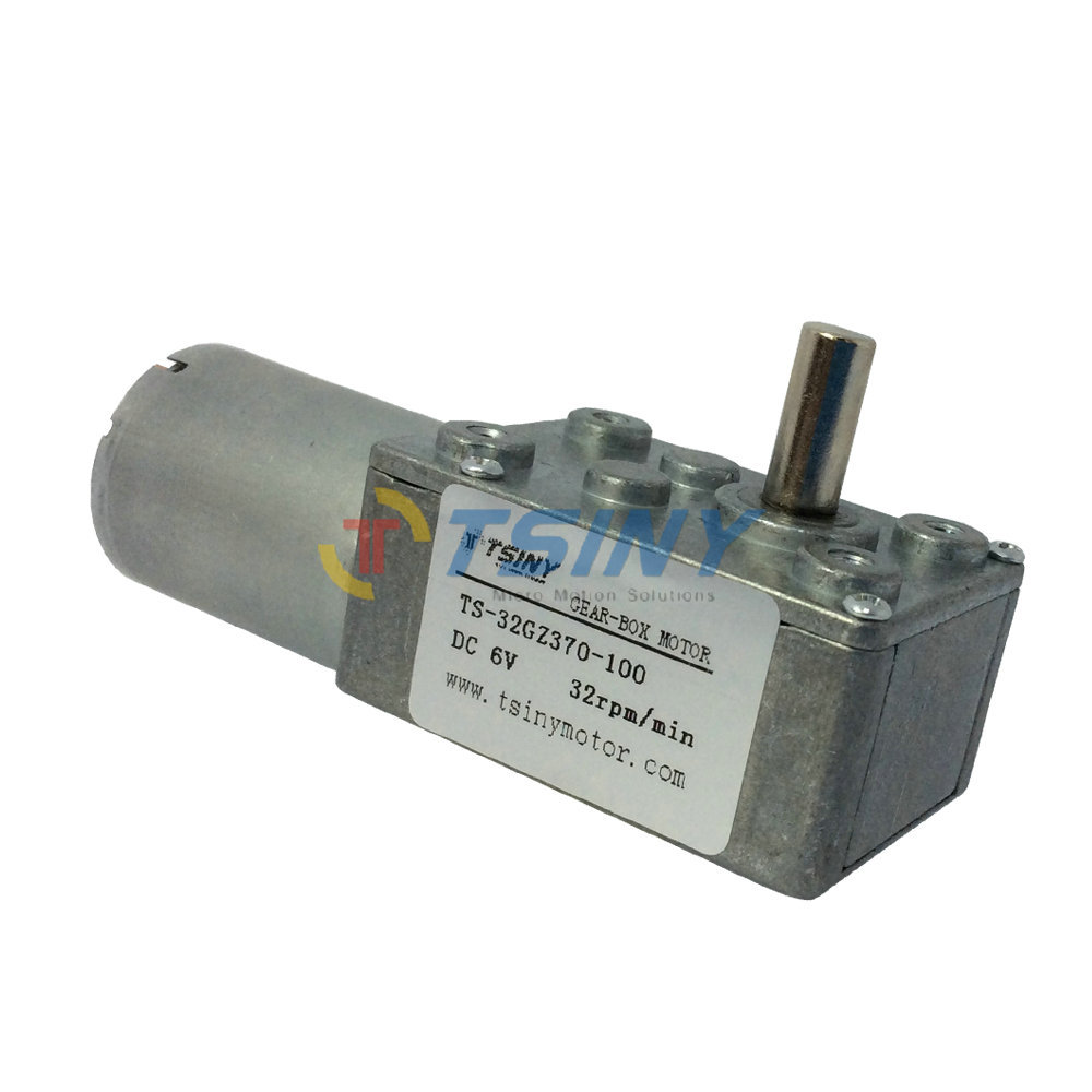 6v 32rpm dc gear motor micro dc gear box motor 370 for Dc gear motor 6v