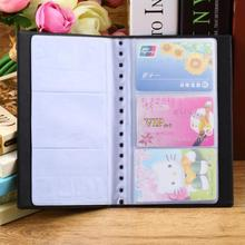 1 Pc Portable 60 Cards Leather Business Name ID Credit Card Holder Keeper Organizer Book ZH275