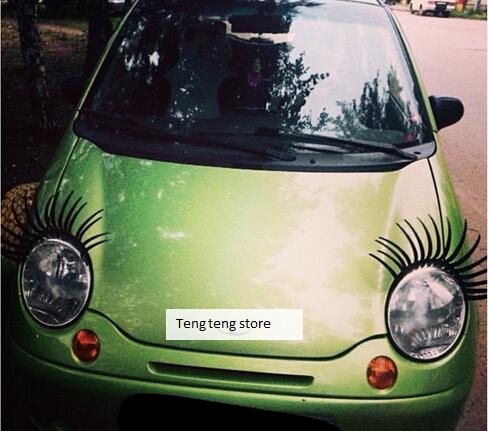 1 Pair/ 2 Pcs Of Headlight Sticker Car Eye Lash Funny Car Eyelashes For Car Headlights Lamp Lights Decoration Decals(China (Mainland))