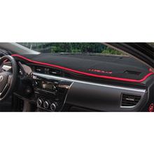 Car Dashboard Pad Instrument Platform Desk Avoid Light Mats Sticker Interior Car Accessory For Toyota Corolla 2014 2015(China (Mainland))