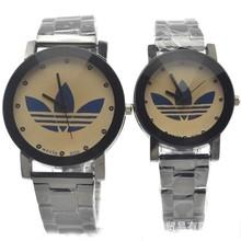 Nuevo 2015 relojes de moda de los amantes de la marca de lujo de negocios acero completo reloj de cuarzo mujeres rhinestone relojes men & women de pulsera