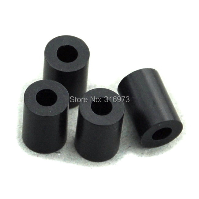 Гаджет  (50 pcs/lot ) 10mm Black Nylon Round Spacer, OD 7mm, ID 3.2mm, for M3 Screws, Plastic. None Аппаратные средства