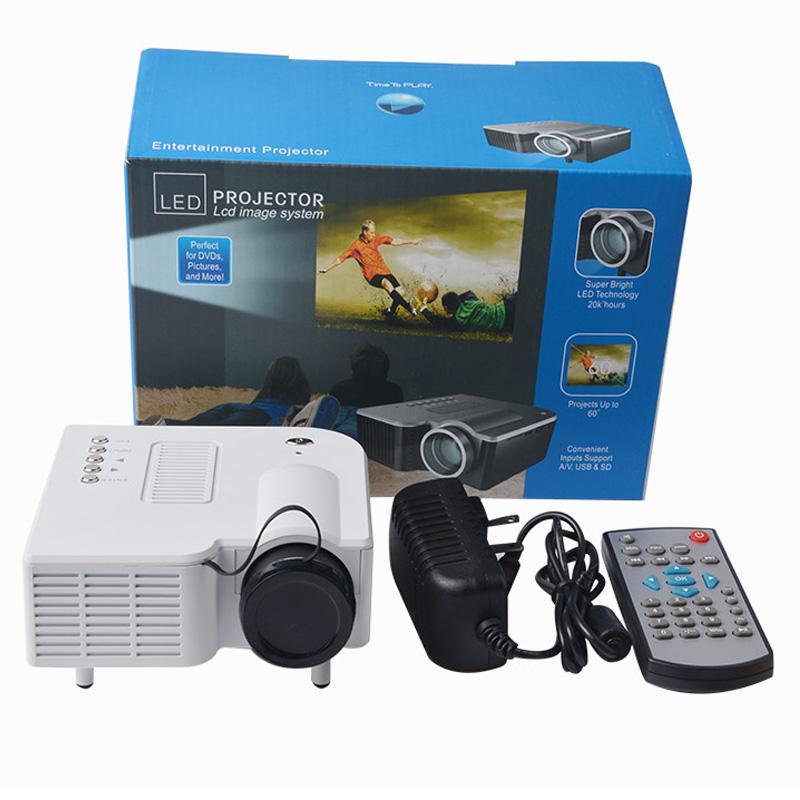 1080P HD Multimedia UC28 Portable mini LED Projector projecteur Home Theater HDMI VGA AV USB SD