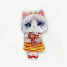 Bello sveglio Nuovo Regalo Dei Monili Delle Donne Spille Abbigliamento Ornament Badge FAI DA TE Pin Gatto Gioielli di Moda Le Ragazze(China)