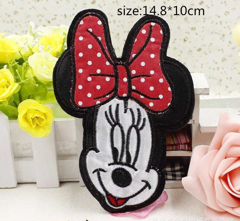 Free shipping 10 pcs 14.8*10cm cartoon character MN embroidered Iron On Patches DK garment Appliques accessory(China (Mainland))