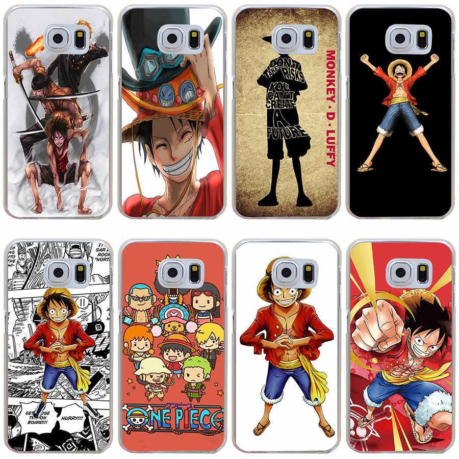 285GH One Piece Luffy Hard Cover Case Samsung Galaxy S3 Mini S4 S5 S6 edge&plus S7 Edge  -  MZSLQS Store store