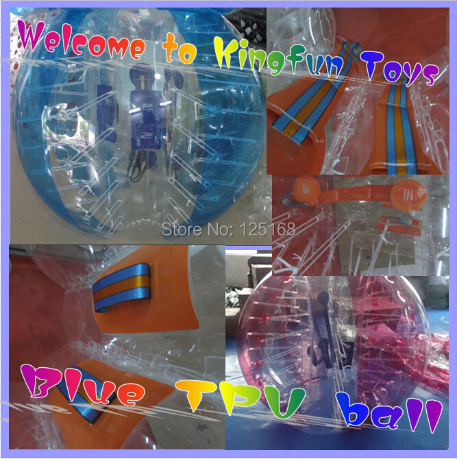 Free shipping 1.5m 100% pure TPU bumper football/soccer bubble/loopy ball for adults(China (Mainland))
