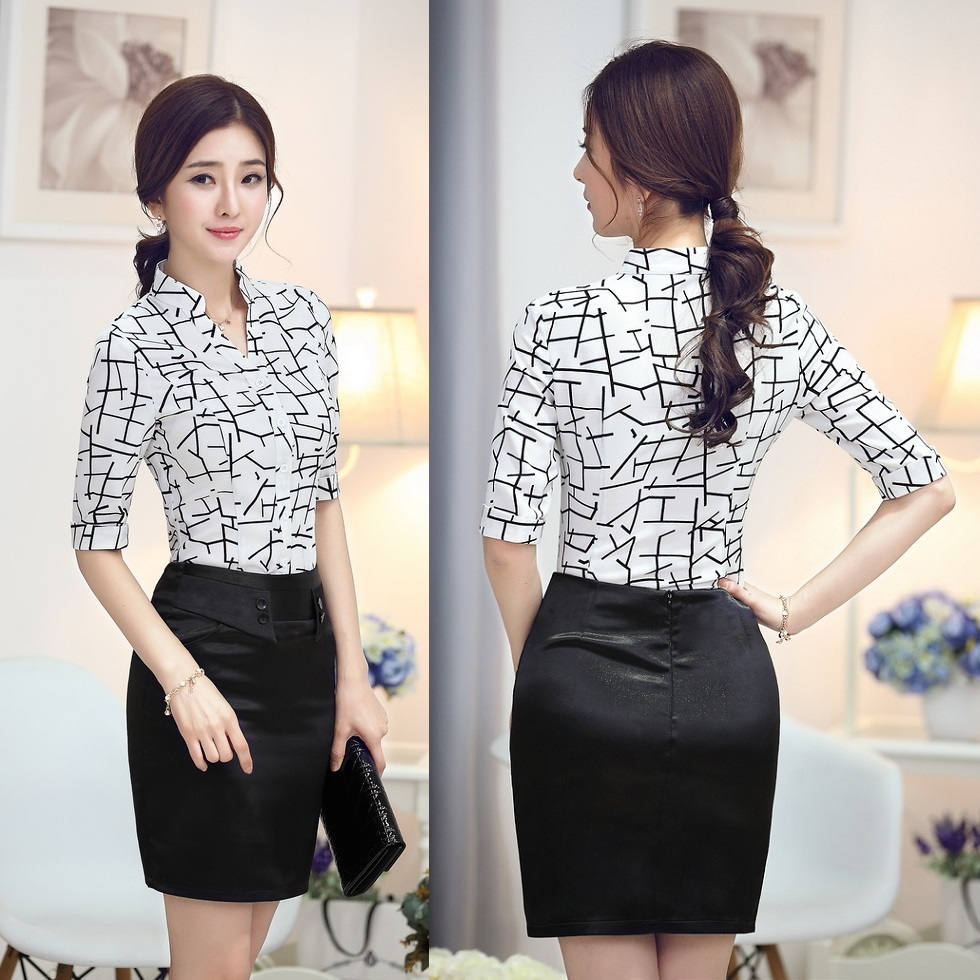 Awesome WomenBlouseLongSleeve2015FashionLadiesOfficeUniformShirts