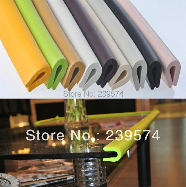 Free shipping ''U' Style 2m New Baby bumper strip Baby Safety Corner protector Glass Table Edge Corner Guards Cushion Strip(China (Mainland))