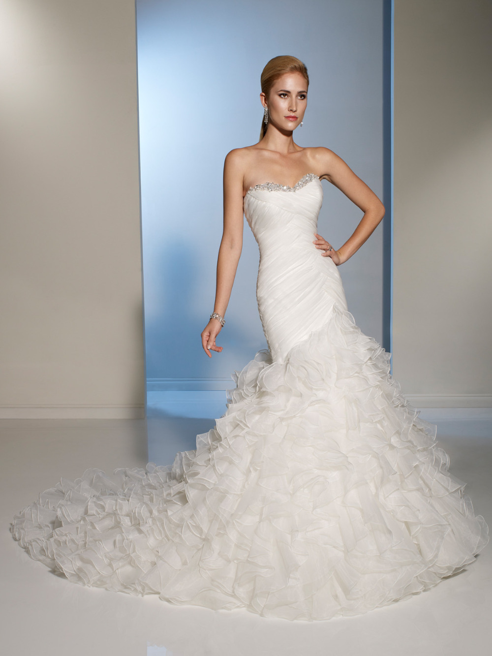 Buy high fashion vintage mermaid wedding for Mermaid wedding dress with ruffles
