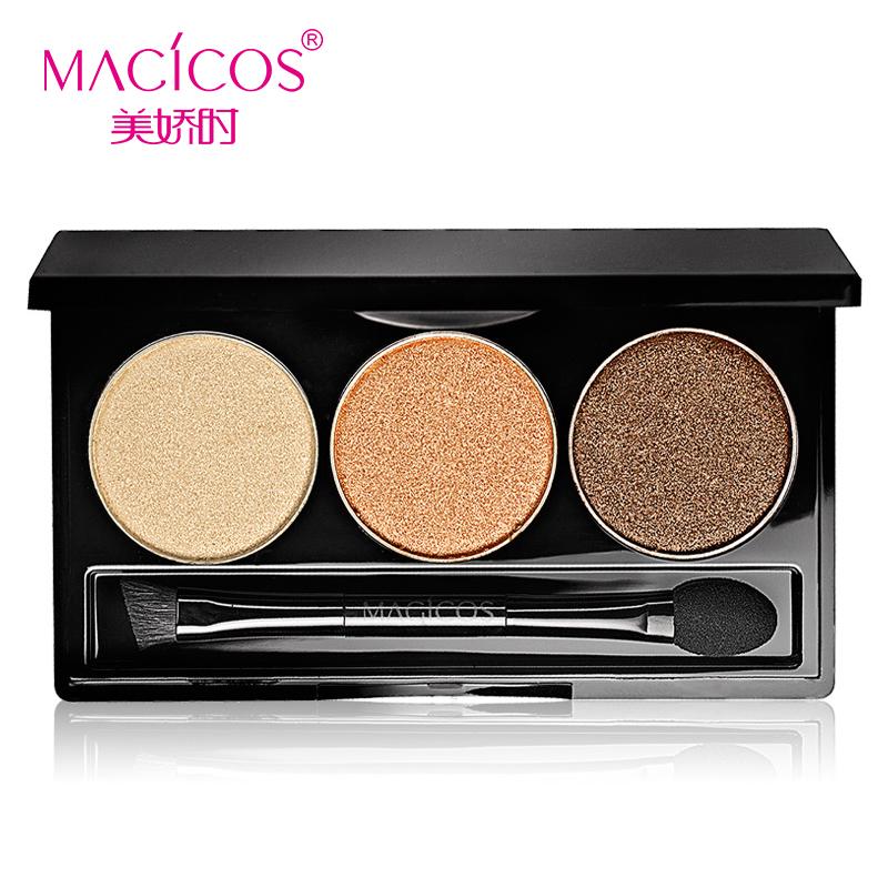 batom Mc cosmetics makeup beautiful charming 3 color Eyeshadow 4G send pearl nude lasting earth color free shipping(China (Mainland))