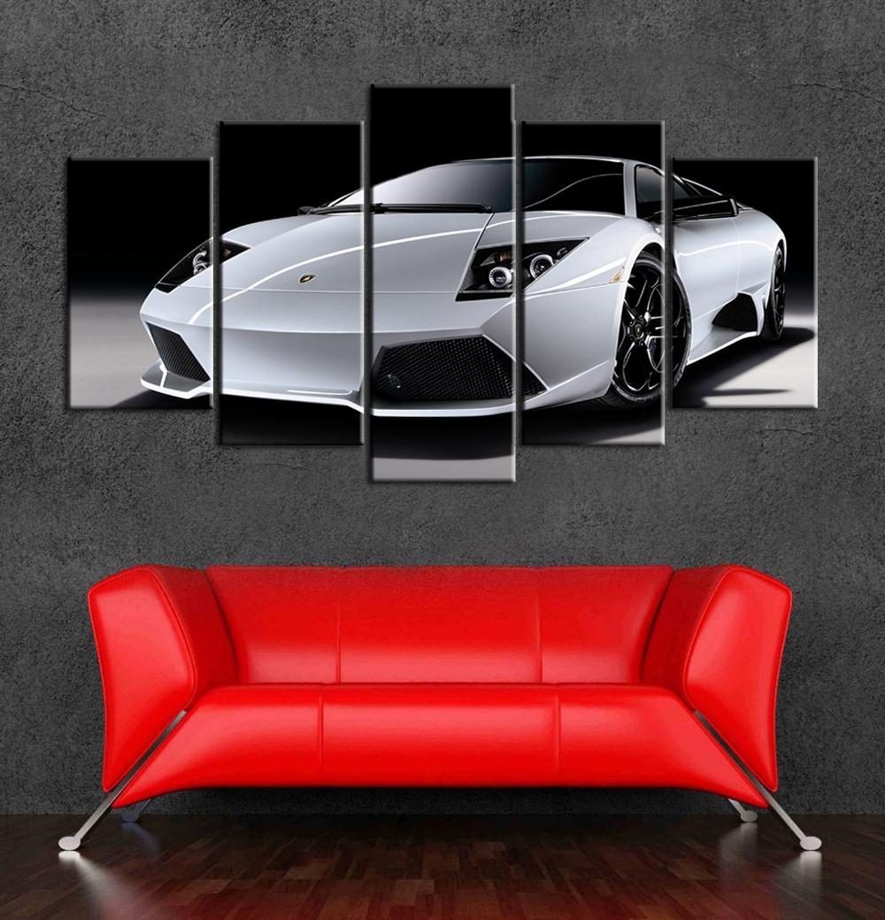 2015 유명한 자동차 캔버스 아트 그림 벽 장식 5 개 거실 벽 장식 ...