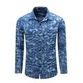 2016 Autumn Denim Shirt Men Cotton Soft Comfortable Men Shirt Jeans Blue Slim Casual Shirt Male