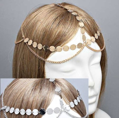 Free shipping, Coins Circle Design Belly Dance Accessory Jewelry Hair Head Chains Club Party(China (Mainland))