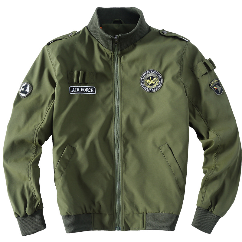 Mens Bomber Jacket US Air Force Slim Fit Tactical Jacket aeronautica militare  Men Military Uniform 2015 Brand Jacking man