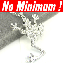 Silver -plated frog necklaces & pendants designer necklace for women men's jewelry hip hop cheap jewelry women 2014 nke-k24
