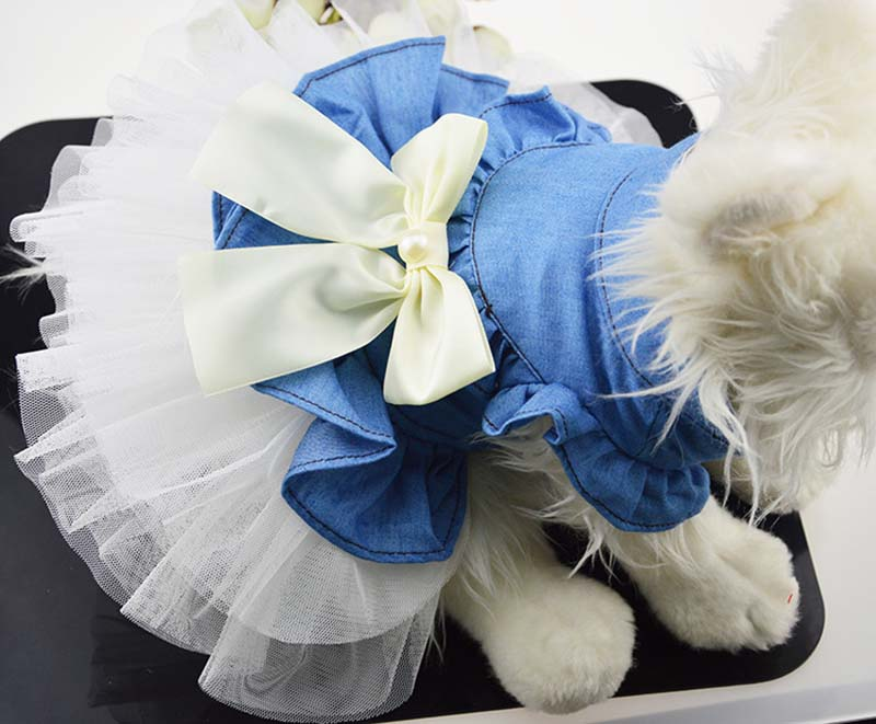 SYDZSW Pet Chihuahua Princess Dress Fashion Small Dog Party Dress Apparel Cat Puppy Dogs Clothes Yorkie Costume in Spring and Summer7