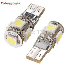 Buy 10 Pcs AMPOULE 5 LED SMD W5W T10 BLANC XENON Veilleuse lampe lumiere voiture ANTI SANS ERREUR ODB Canbus Opel VW Ford for $15.26 in AliExpress store