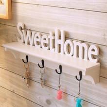 Письма декоративные деревянные двери уолл-держатель вешалки для одежды пальто ключи и аксессуары, 2 шт./упак.