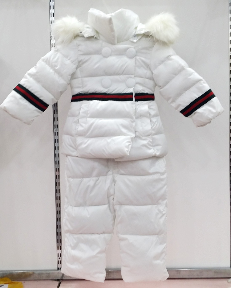 free shipping 2015 winter coat+jumpsuit baby clothing set Children boys girls warm down thicken jacket suit set baby coat(China (Mainland))