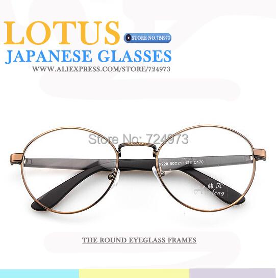 Vintage round Metal Earstem nerd glasses korean men eyewear optical spectacle frame japanese computer eye women - Lotus Warehouse store