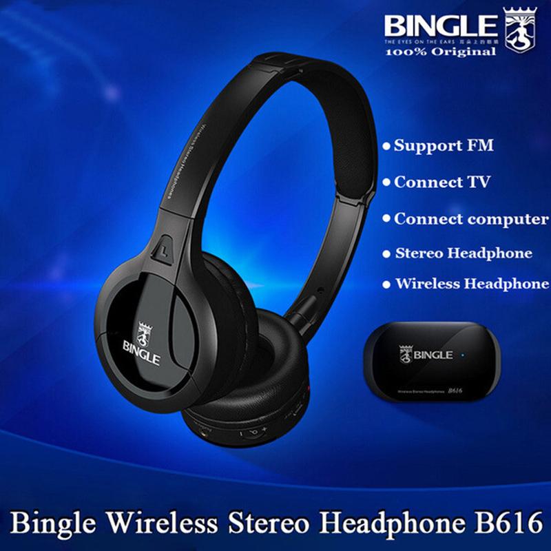Bingle B616 5in1 Wireless Headphone Earphone HiFi Monitor FM DJ MIC for PC TV DVD Audio Mobile Voice Chating Wireless TV Headset(China (Mainland))