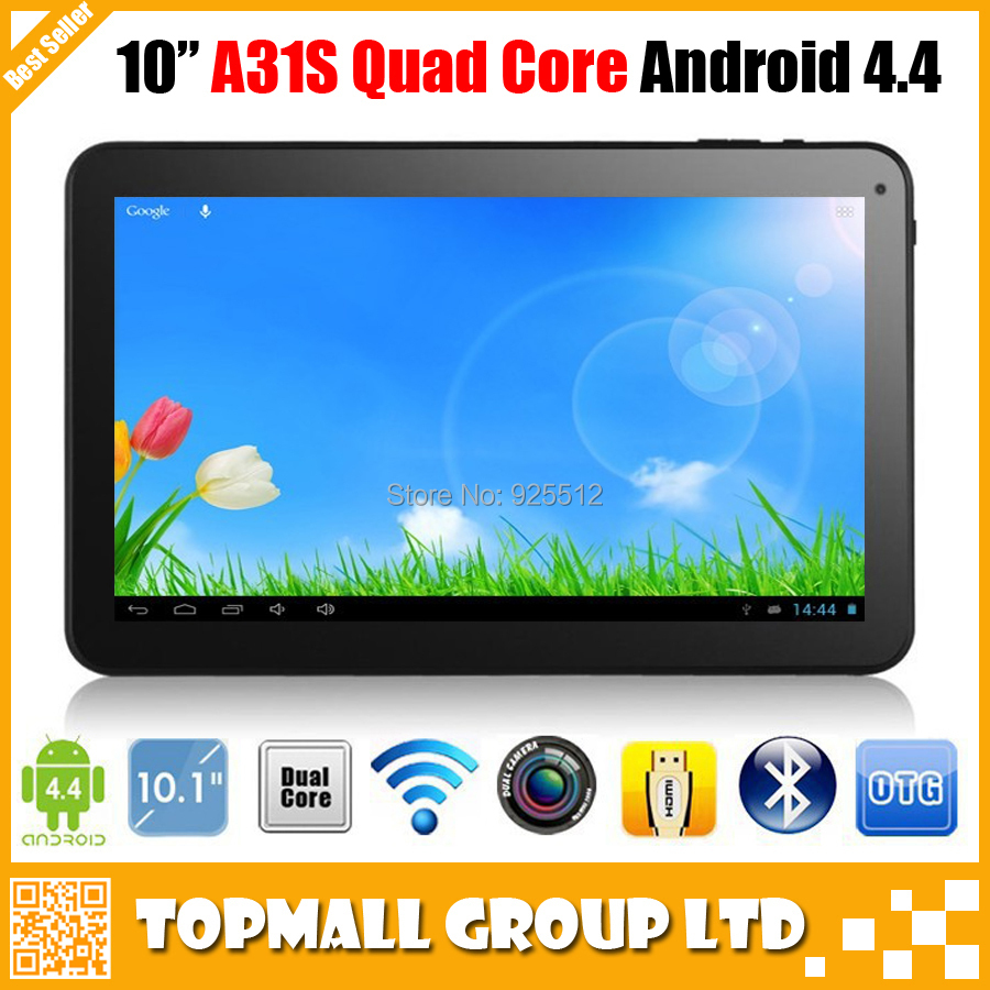 2015 New Facotry sales 10 inch A31s tablet quad core Android 4.4 Tablet pc Bluetooth HDMI 1G RAM 16GB/32GB Dual Cameras(China (Mainland))