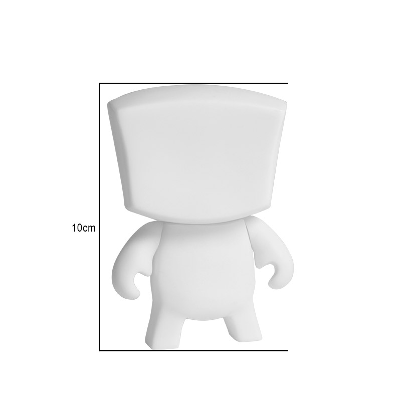2016 Hot Anime Action figure 3.9 inches DIY Square Head Kidrobot Blank Toys Cartoon Children PVC Blank DIY Vinyl LPS Toys(China (Mainland))
