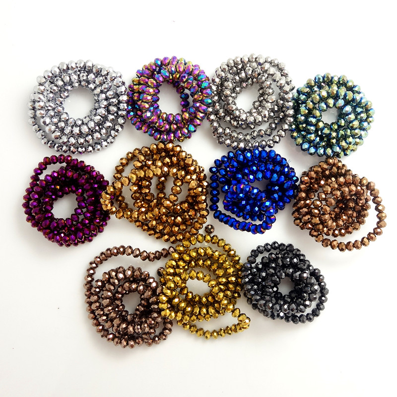 40pcs Rondelle faceted Crystal Glass Loose Spacer Round Beads for Jewelry Making 8x6mm(China (Mainland))