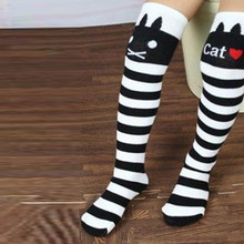Toddlers Kids Girls Knee High Socks School Cotton Tights Striped Stockings for Girls 1 8Y Wholesale
