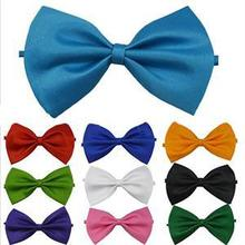 Best Selling Men Formal commercial bow tie male solid color marriage bow ties candy color butterfly cravat bow tie(China (Mainland))